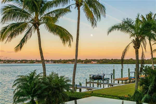 Showstopping Sarasota Bay and downtown city skyline views luxury properties
