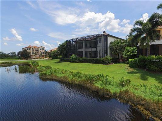 Mansions in a serene lake home in bradenton