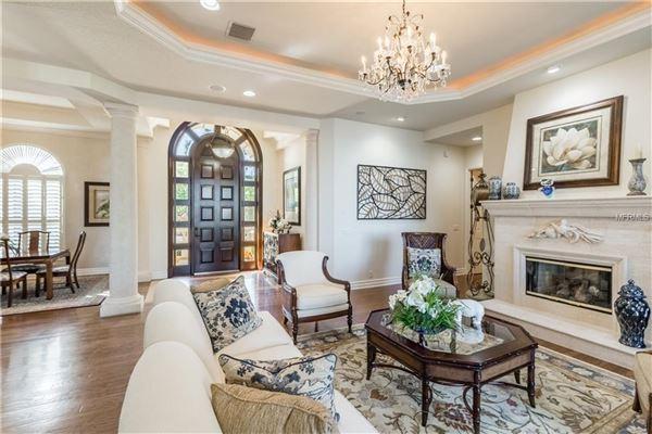 Luxury real estate private riverfront estate