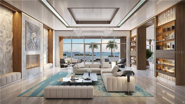 Luxury real estate penthouse in the Ritz-Carlton Residences