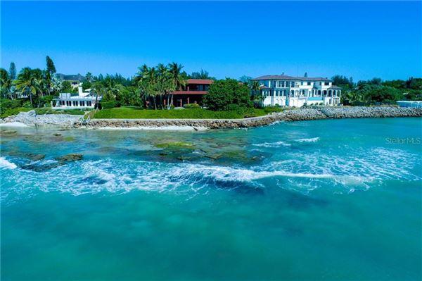 Luxury real estate landmark gulf-front property