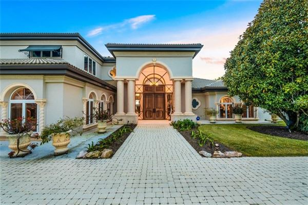 Luxury homes incredibly elegant bayfront estate