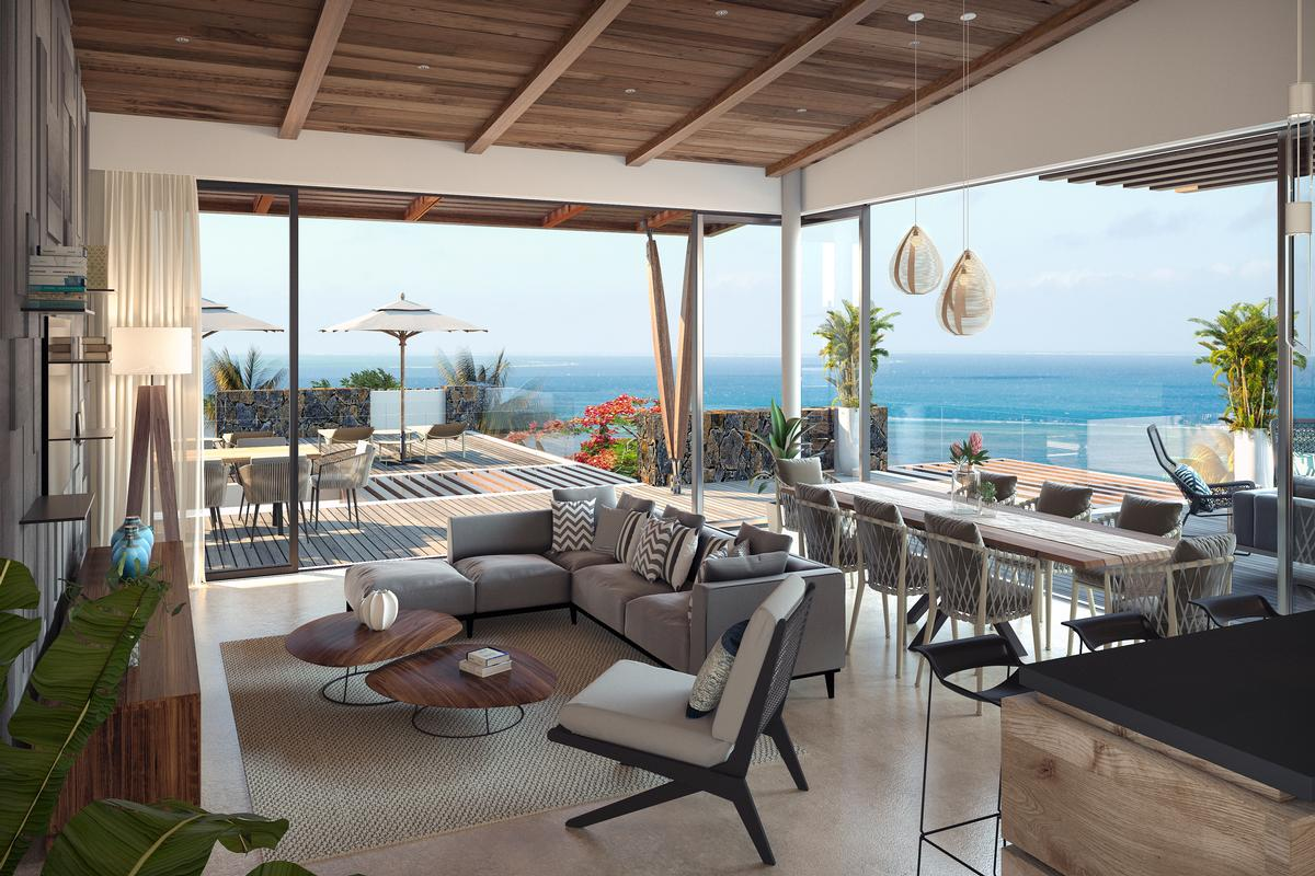 Luxury penthouse located on a pristine beach luxury real estate