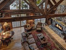 Mansions in beautiful log home on a quiet bay