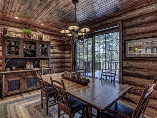 beautiful log home on a quiet bay luxury properties