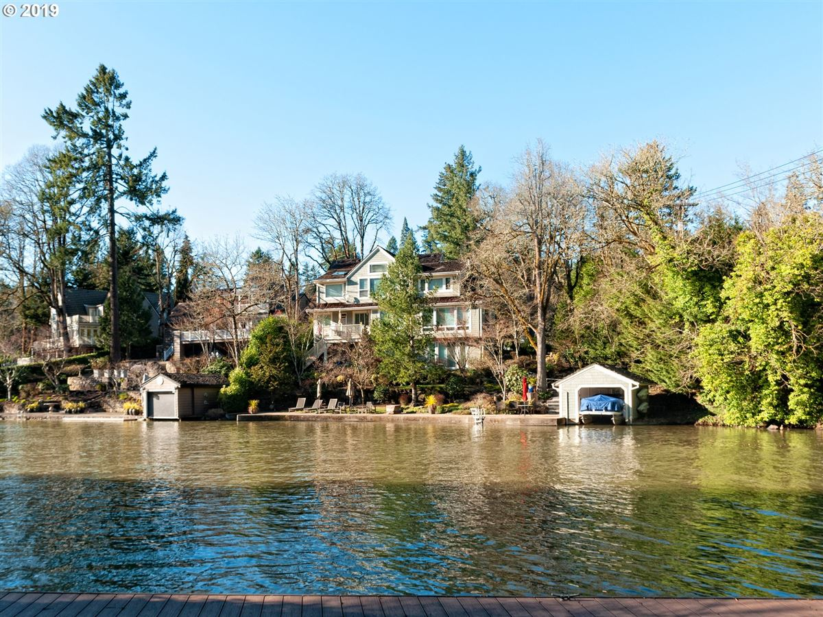 Mansions Classic lakefront home with so much charm