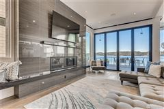 Mansions in contemporary living on lake washington
