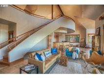 Luxury real estate private custom home boasts a pool and deck