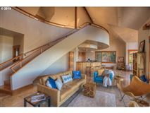 Luxury homes private custom home boasts a pool and deck