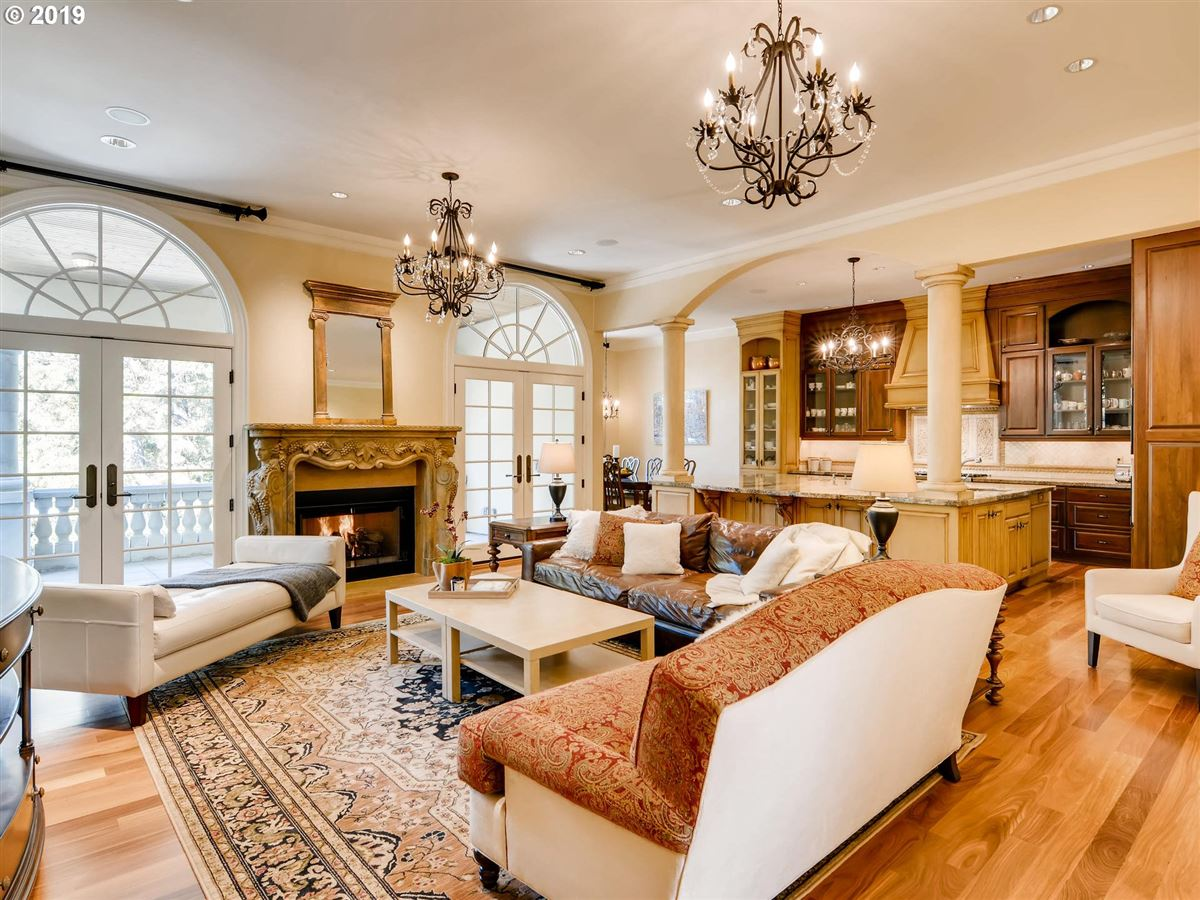 Mansions in custom european-style home