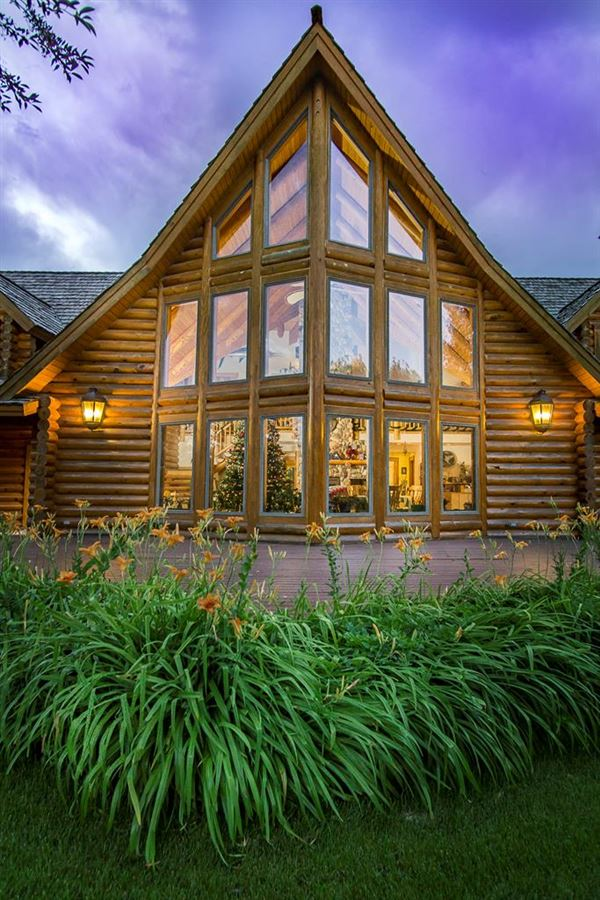 Luxury homes in beautifully crafted exceptional log home