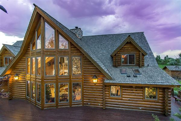 Luxury properties beautifully crafted exceptional log home