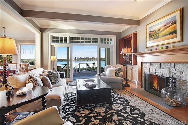 Timeless custom home with panoramic lake views mansions