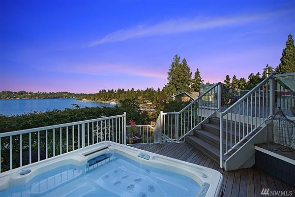 Mansions in Timeless custom home with panoramic lake views
