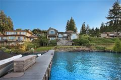 Timeless custom home with panoramic lake views luxury homes