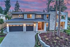 home with Stunning views of Lake Washington mansions