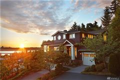 Mansions in AMAZING western views of Seattle