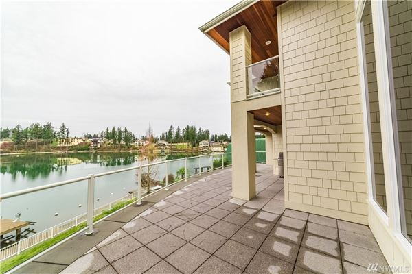 Luxury real estate  iconic Lake Tapps waterfront home