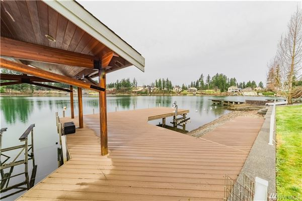 iconic Lake Tapps waterfront home luxury real estate