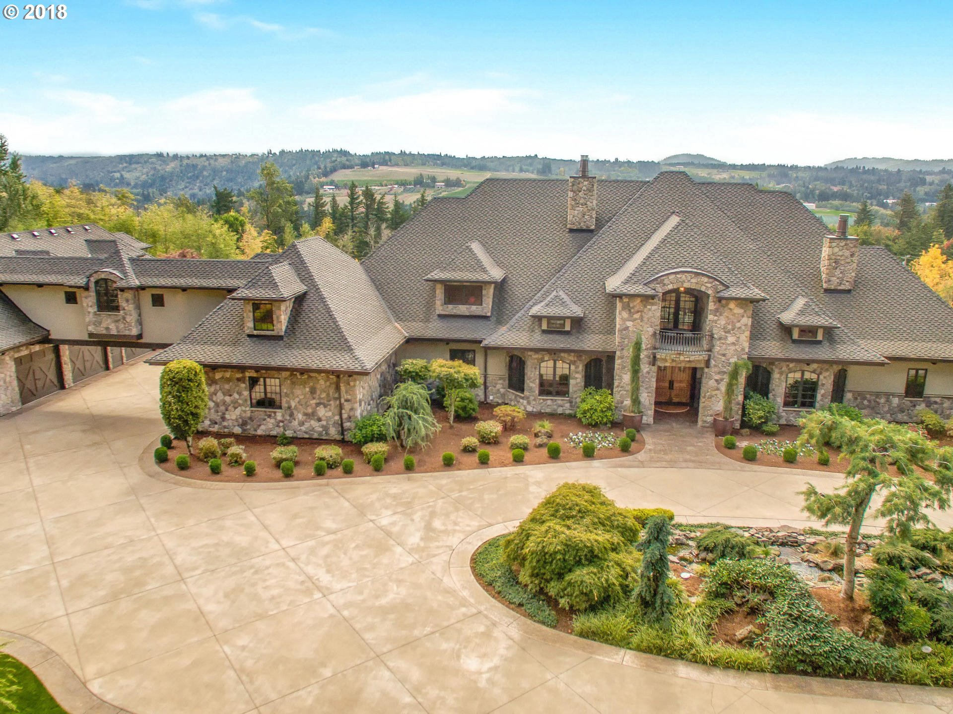 Executive chateau on over nine pristine acres