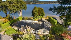 classy waterfront home boasts lovely views luxury homes