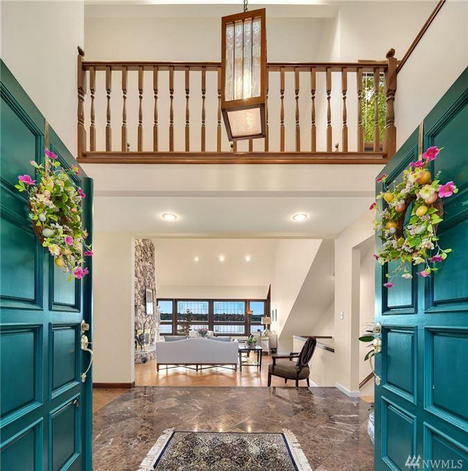 Luxury homes expansive views on lake washington