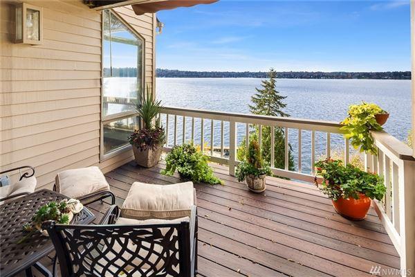 Luxury homes in expansive views on lake washington