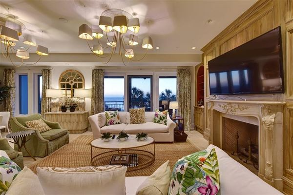 Mansions in end unit penthouse with sweeping views of Atlantic