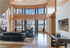 sophisticated lakefront living mansions