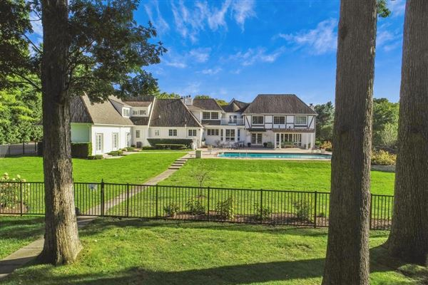 this remodeled estate is Timeless in its design luxury properties