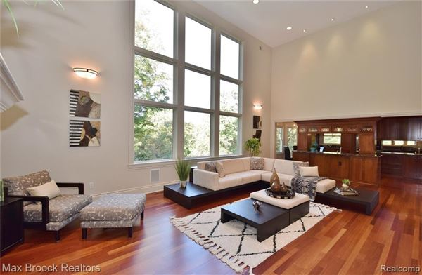 Luxury real estate stunning contemporary colonial overlooking the rouge river