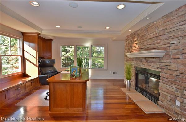 Luxury homes in stunning contemporary colonial overlooking the rouge river