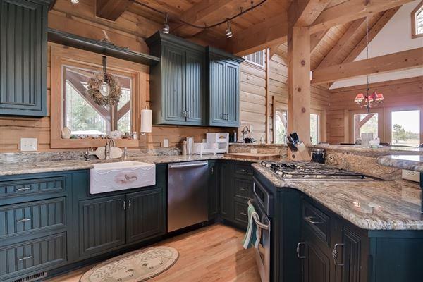 Luxury homes 51-plus acre horse farm with custom post-n-beam home