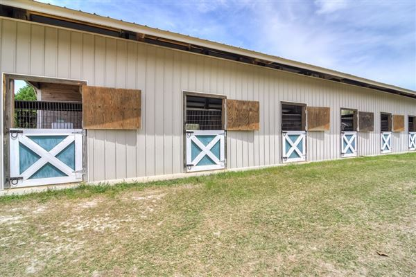 Mansions 51-plus acre horse farm with custom post-n-beam home