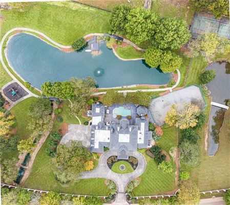 Luxury real estate eight-acre Equestrian Estate on the Chattahoochee River