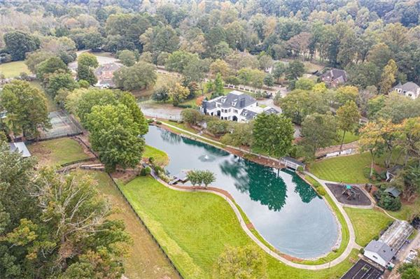 Luxury properties eight-acre Equestrian Estate on the Chattahoochee River