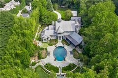Luxury homes in Amazing gated Atlanta estate in private hilltop setting