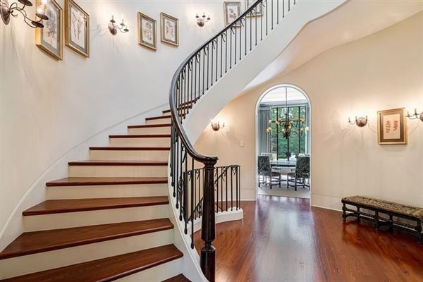 Amazing gated Atlanta estate in private hilltop setting luxury homes