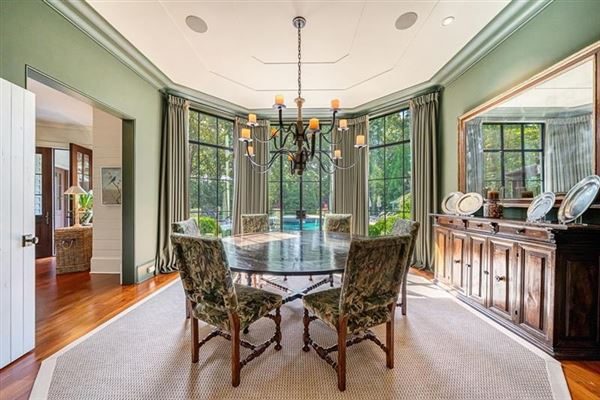 Luxury real estate Amazing gated Atlanta estate in private hilltop setting