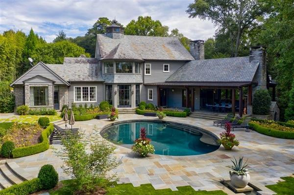 Amazing gated Atlanta estate in private hilltop setting luxury properties