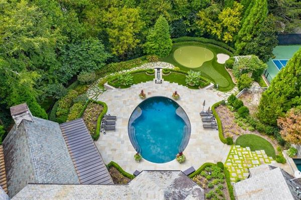Mansions Amazing gated Atlanta estate in private hilltop setting
