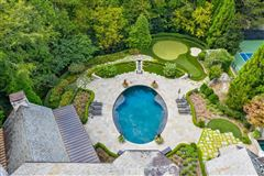 Luxury properties Amazing gated Atlanta estate in private hilltop setting