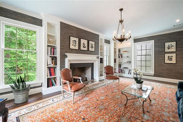 Luxury real estate Tuxedo Park gem with a fresh look