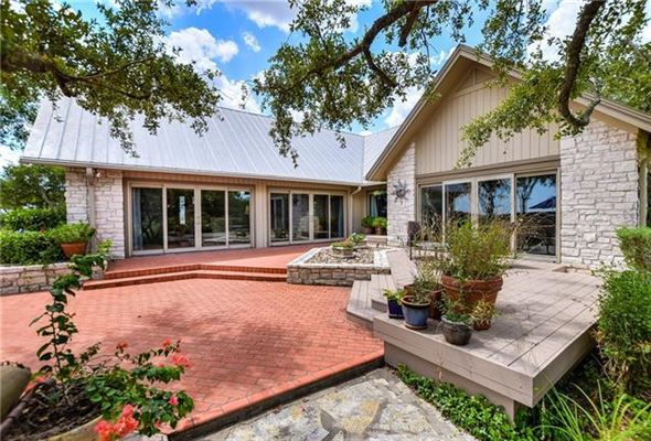 Luxury real estate Peaceful home includes a guest house and fire pit