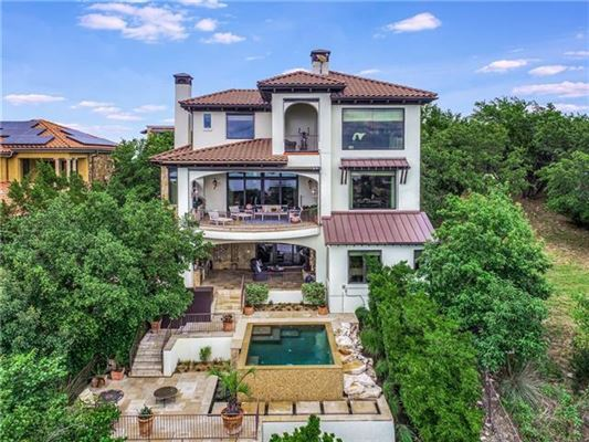 Mansions Custom Mediterranean villa with breathtaking Lake Travis views
