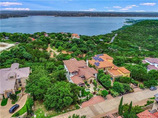 Custom Mediterranean villa with breathtaking Lake Travis views mansions