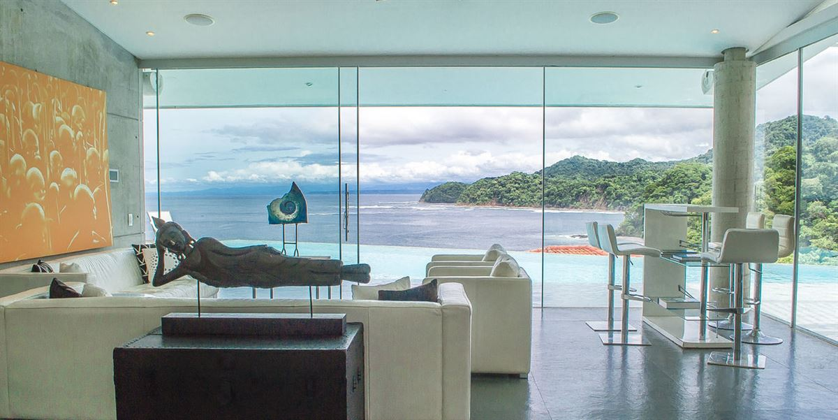 contemporary home with stunning view luxury homes