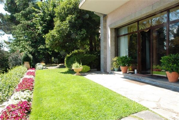 Luxury real estate renovated villa overlooking Lake Maggiore