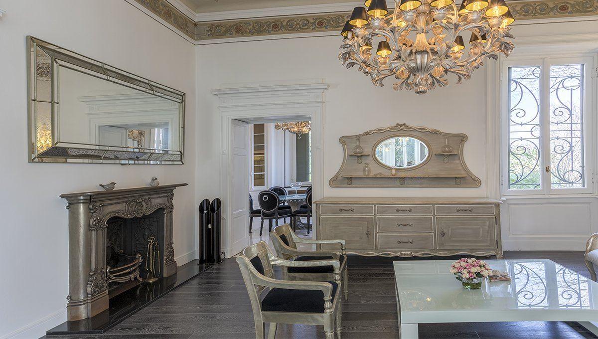 Luxury real estate historic italian villa in art nouveau style