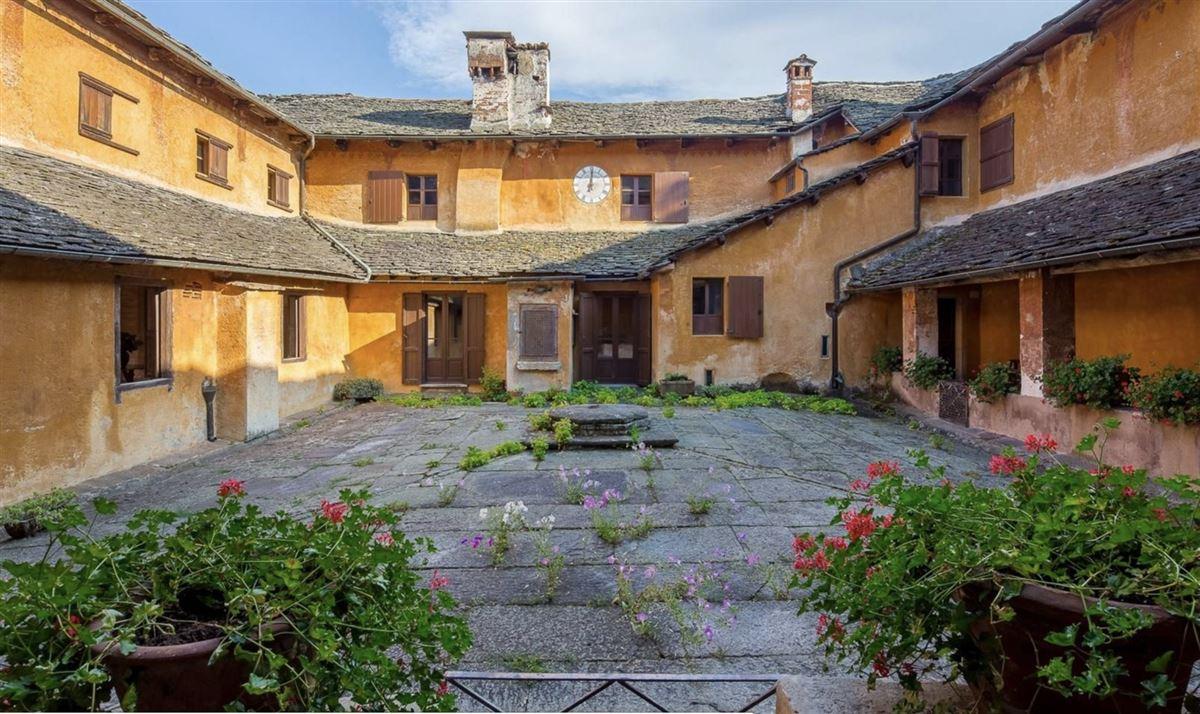 Luxury homes historic 1600s residence overlooking Lake Orta